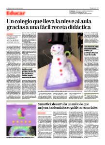 Artículo nieve periódico Magisterio