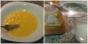 huevo batido y azucar
