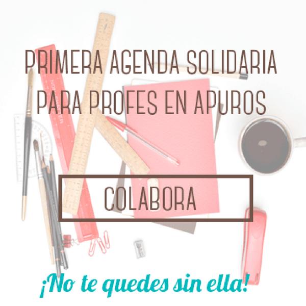 Primera agenda solidaria para profes en apuros