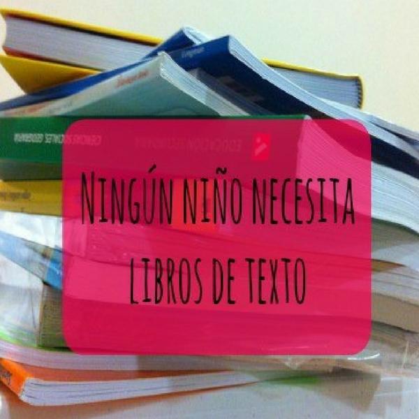 Ningún niño necesita libros de texto