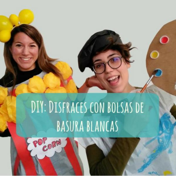 DIY: Disfraces con bolsas de basura blancas | Dos profes en