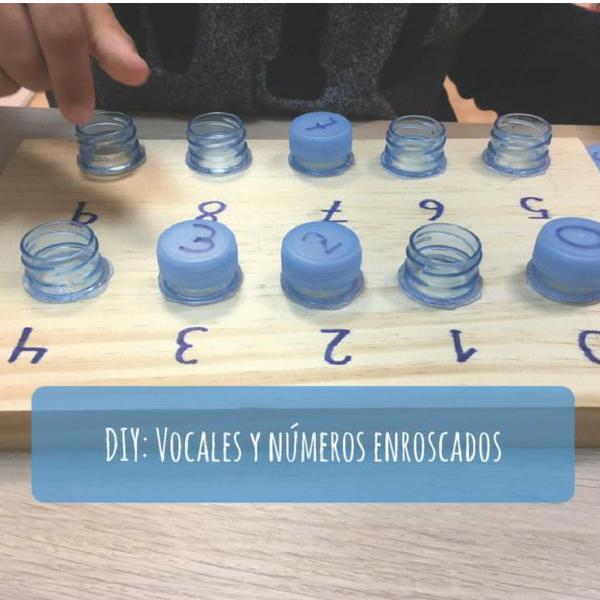 DIY: Vocales y números enroscados