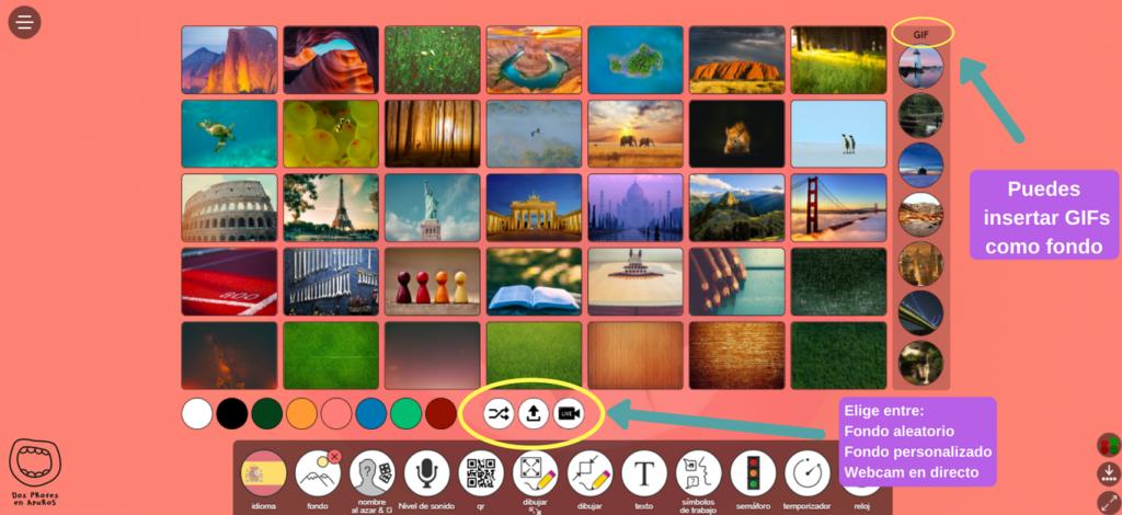 menú classroomscreen