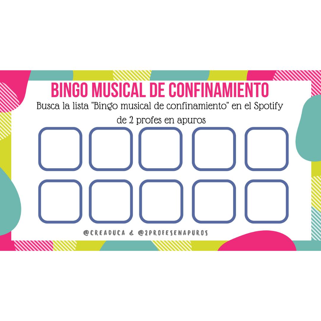Bingo musical de confinamiento