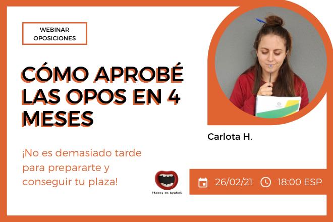 webinar cómo aprobé las opos en 4 meses Docentes Catalunya